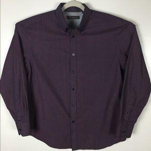 Ben Sherman purple pattern button down. Large